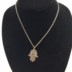 Jewelry - Vintage Silver Necklace Islam Hamsa Hand of Fatima